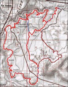JEM Trail Map - bike rentals st. george