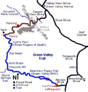 Bear Claw Poppy Trail Map - specialized mountain bike in st. george