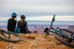 Couple Mountain Biking - bike rentals st. george