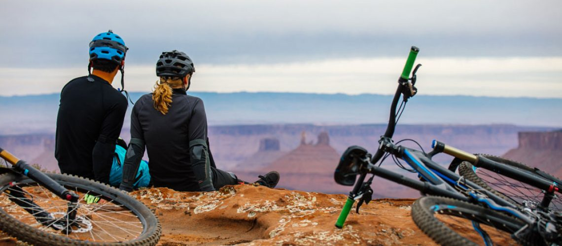 Couple Mountain Biking - specialized mountain bike in st. george