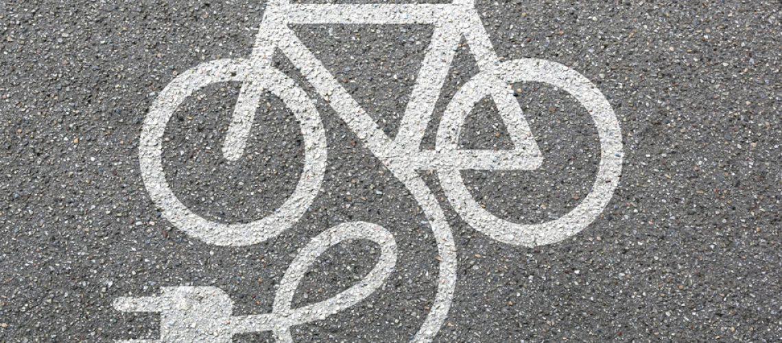 E-bike Stencil - st. george bike trails