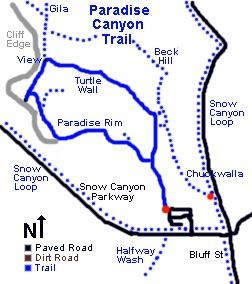 Paradise Canyon Map - specialized mountain bike in st. george